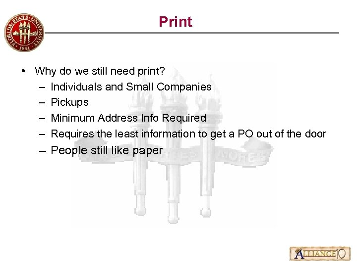 Print • Why do we still need print? – Individuals and Small Companies –