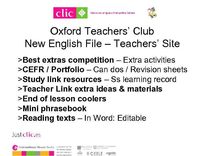 Oxford Teachers' Club New English File – Teachers' Site >Best extras competition – Extra