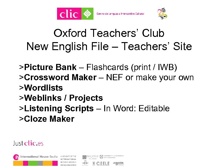 Oxford Teachers' Club New English File – Teachers' Site >Picture Bank – Flashcards (print