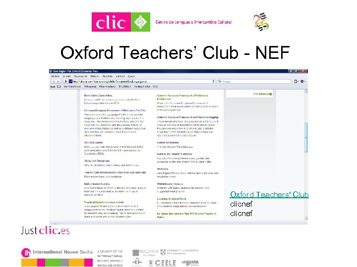 Oxford Teachers' Club - NEF Oxford Teachers' Club clicnef