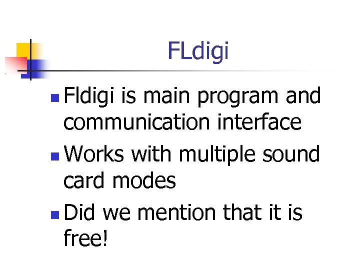 HF Digital Communications The Sound Card Radio and