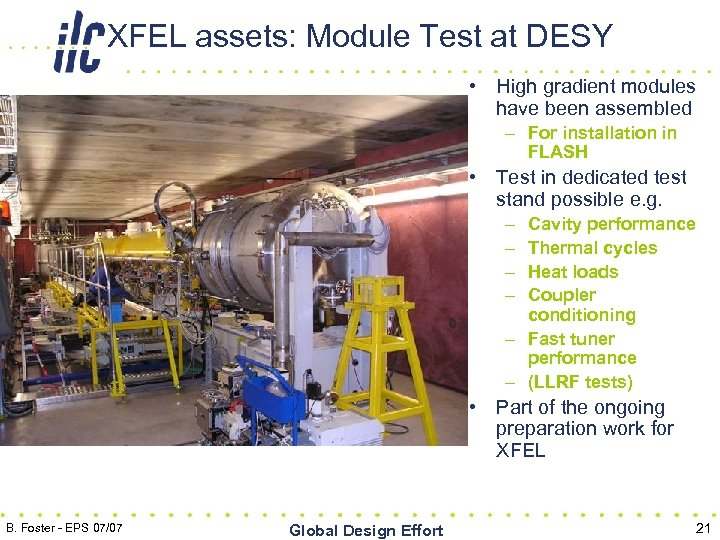 XFEL assets: Module Test at DESY • High gradient modules have been assembled –