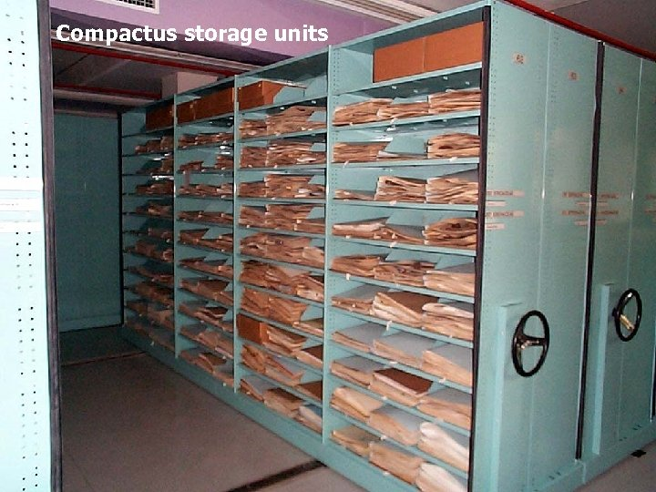 Compactus storage units