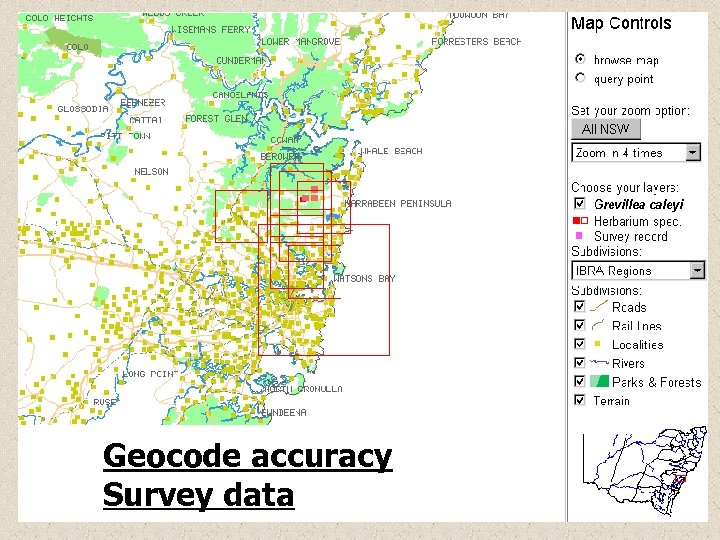 Geocode accuracy Survey data