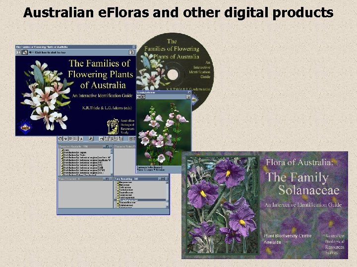 Australian e. Floras and other digital products