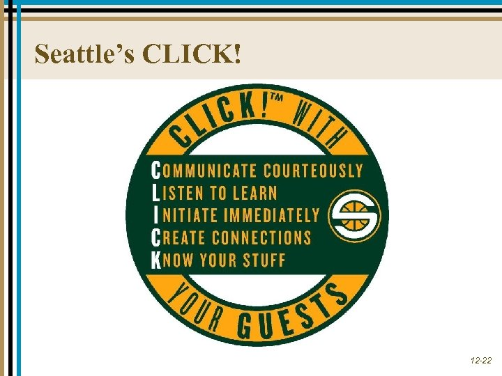 Seattle's CLICK! 12 -22