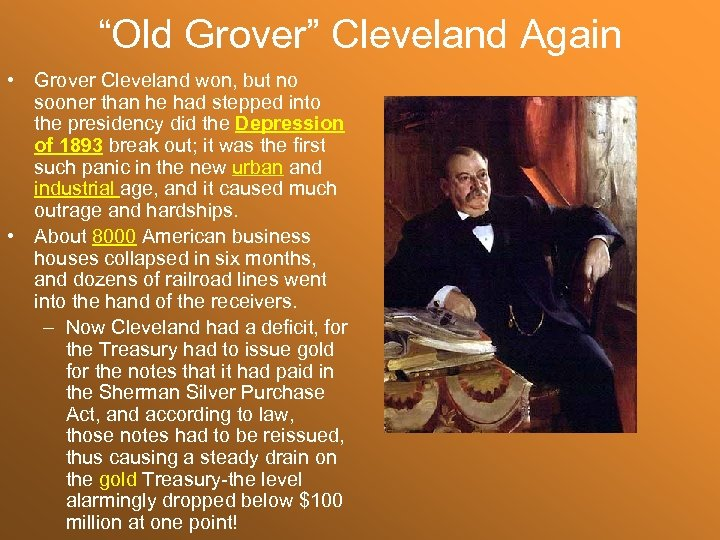 """Old Grover"" Cleveland Again • Grover Cleveland won, but no sooner than he had"