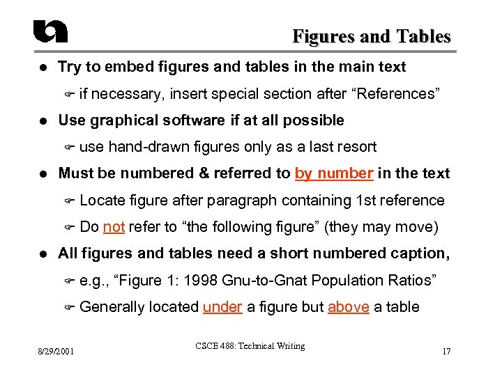 Figures and Tables l Try to embed figures and tables in the main text