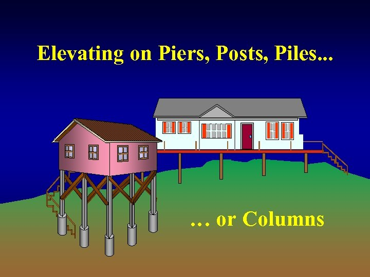 Elevating on Piers, Posts, Piles. . . … or Columns