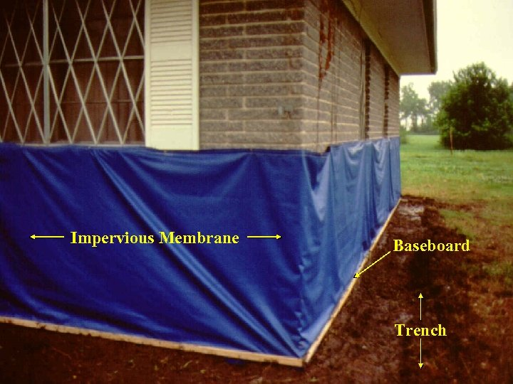 Impervious Membrane Baseboard Trench