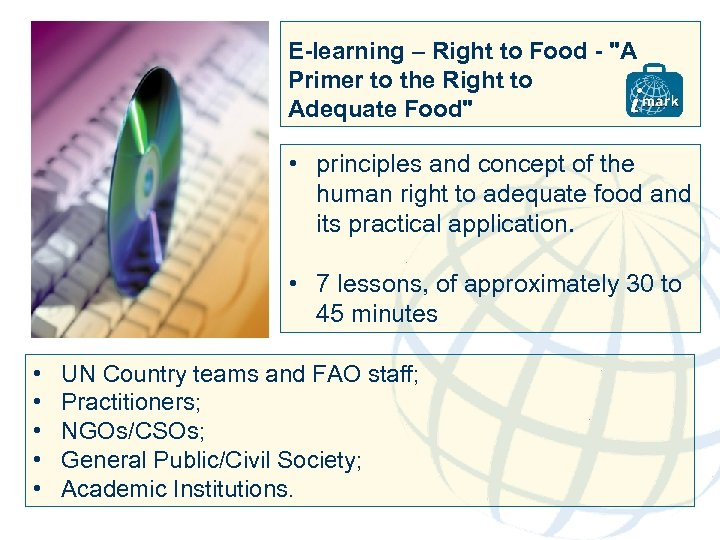 E-learning – Right to Food -