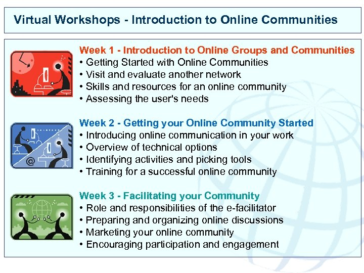 Virtual Workshops - Introduction to Online Communities Week 1 - Introduction to Online Groups