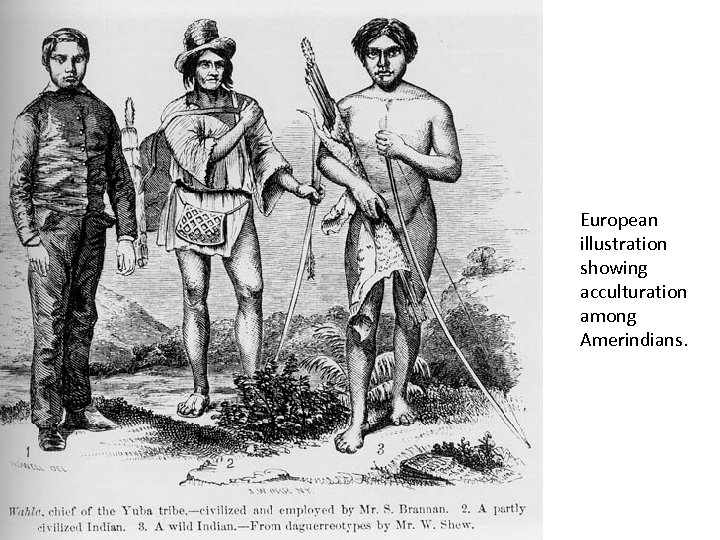 European illustration showing acculturation among Amerindians.