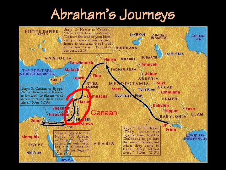 Abraham's Journeys Canaan