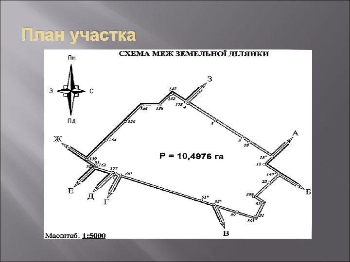 План участка