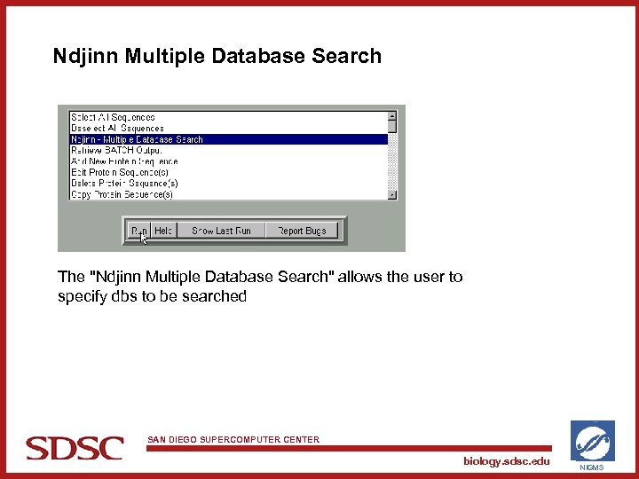 Ndjinn Multiple Database Search The