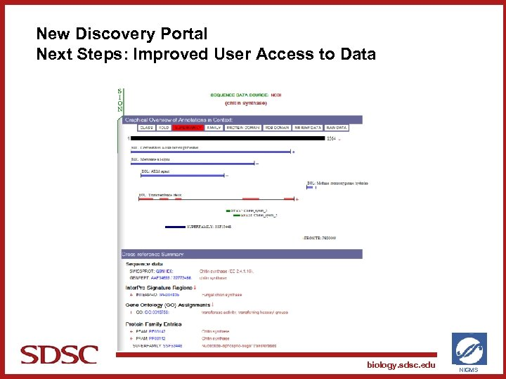New Discovery Portal Next Steps: Improved User Access to Data SAN DIEGO SUPERCOMPUTER CENTER