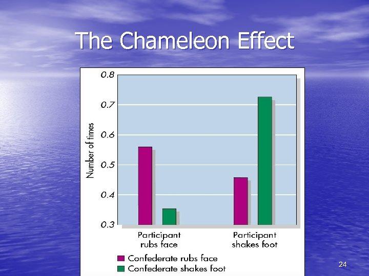 The Chameleon Effect 24