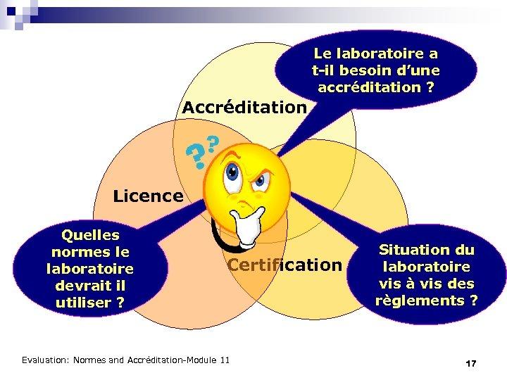 Le laboratoire a t-il besoin d'une accréditation ? Accréditation Licence Quelles normes le laboratoire