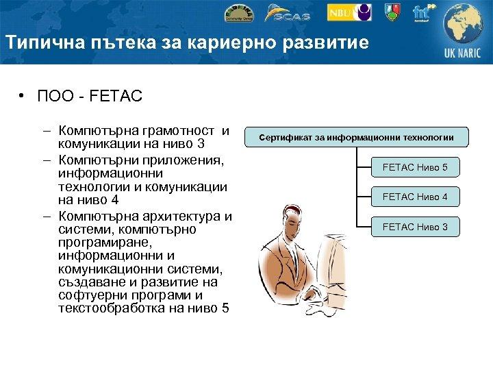 Типична пътека за кариерно развитие • ПОО - FETAC – Компютърна грамотност и комуникации