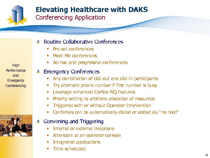 Elevating Healthcare with DAKS Conferencing Application Routine Collaborative Conferences High Performance and Emergency Conferencing