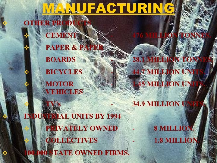 MANUFACTURING v OTHER PRODUCTS v v - 476 MILLION TONNES. BOARDS - 28. 1