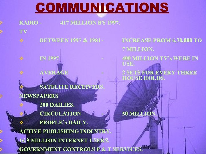 COMMUNICATIONS v RADIO - v TV v v 417 MILLION BY 1997. BETWEEN 1997
