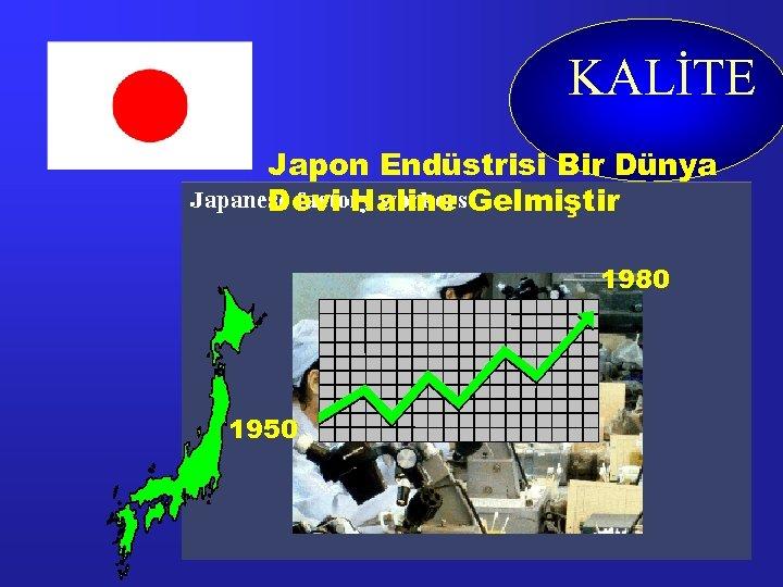 KALİTE Japon Endüstrisi Bir Dünya Devi Haline Gelmiştir 1980 1950
