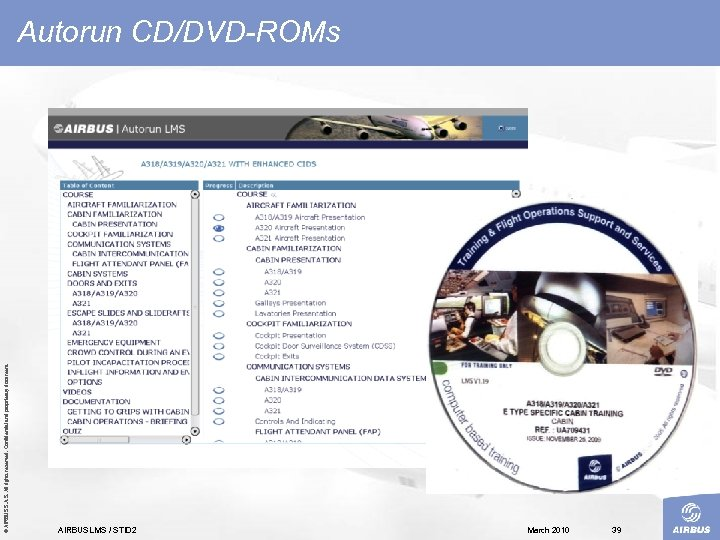 © AIRBUS S. All rights reserved. Confidential and proprietary document. Autorun CD/DVD-ROMs AIRBUS LMS