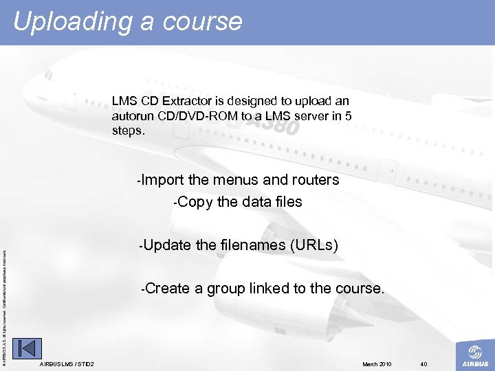 Uploading a course LMS CD Extractor is designed to upload an autorun CD/DVD ROM