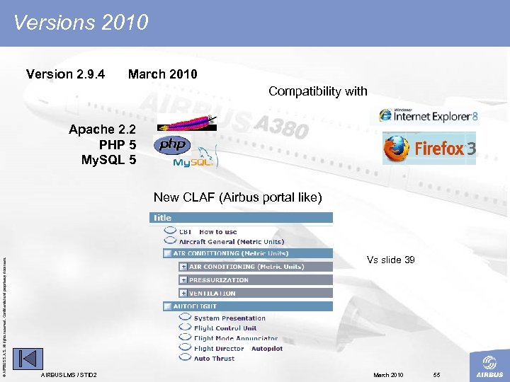 Versions 2010 Version 2. 9. 4 March 2010 Compatibility with Apache 2. 2 PHP