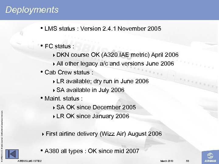 Deployments • LMS status : Version 2. 4. 1 November 2005 • FC status