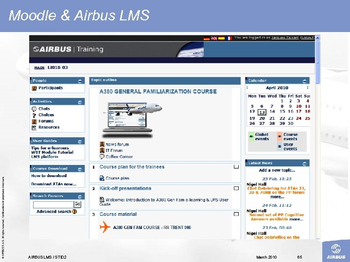 © AIRBUS S. All rights reserved. Confidential and proprietary document. Moodle & Airbus LMS