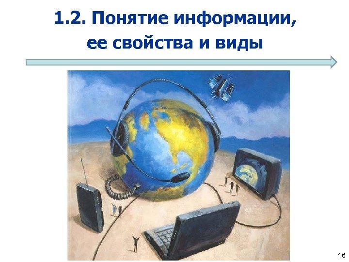 1. 2. Понятие информации, ее свойства и виды 16