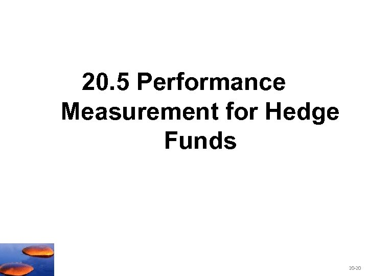 20. 5 Performance Measurement for Hedge Funds 20 -20