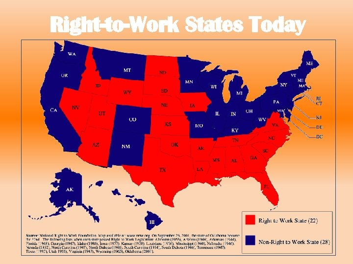 Right-to-Work States Today