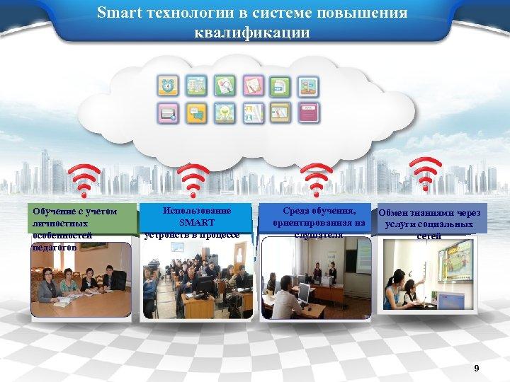 Smart технологии в системе повышения квалификации Обучение с учетом личностных особенностей педагогов Использование SMART