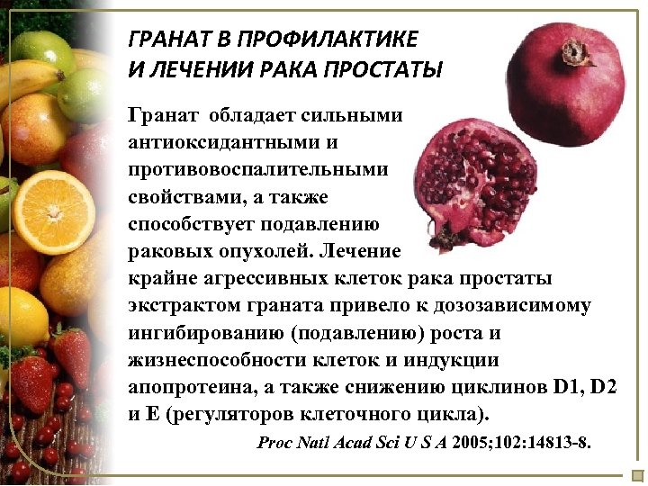 Граната от простатита простатит признаки лечение препараты
