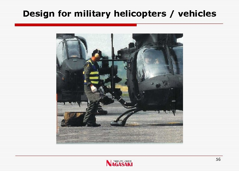 Design for military helicopters / vehicles 56