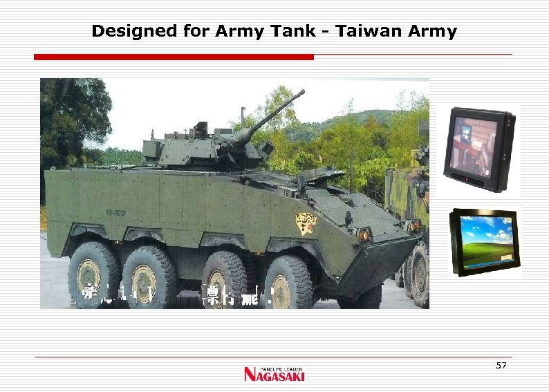 Designed for Army Tank - Taiwan Army 57