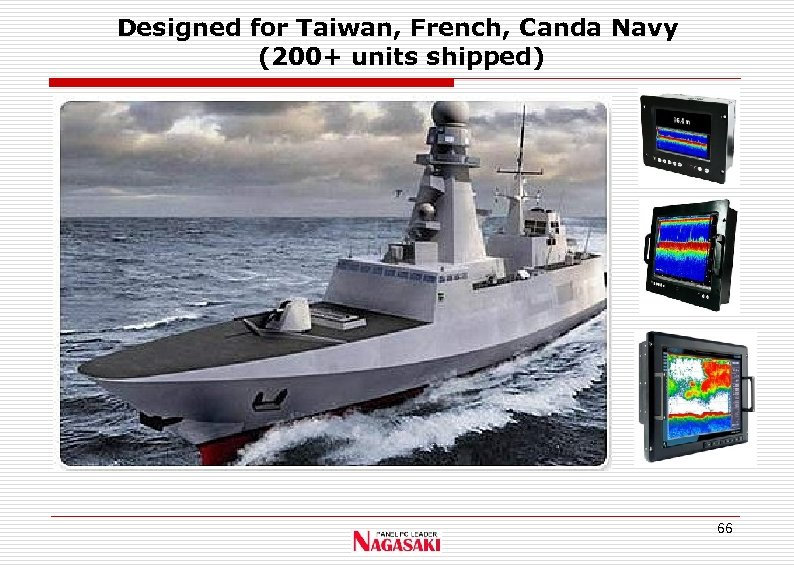 Designed for Taiwan, French, Canda Navy (200+ units shipped) 66