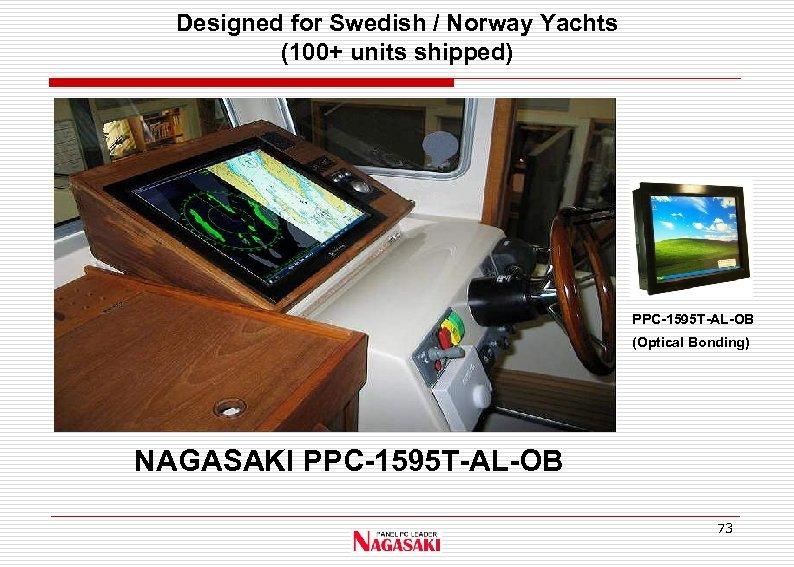 Designed for Swedish / Norway Yachts (100+ units shipped) PPC-1595 T-AL-OB (Optical Bonding) NAGASAKI