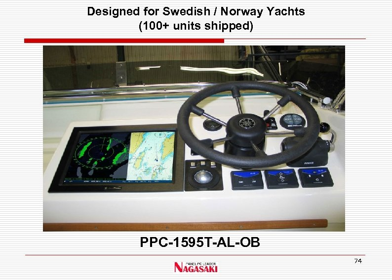 Designed for Swedish / Norway Yachts (100+ units shipped) PPC-1595 T-AL-OB 74