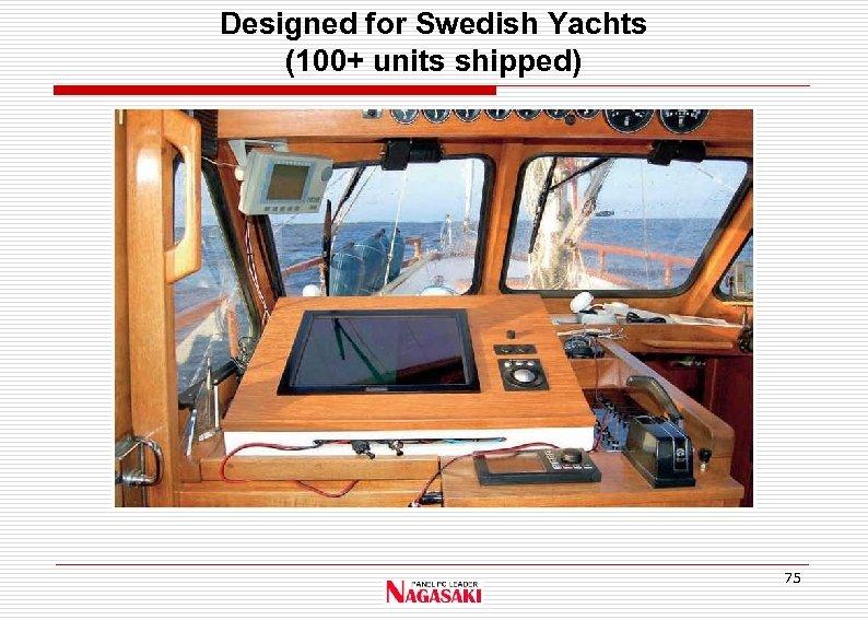 Designed for Swedish Yachts (100+ units shipped) 75