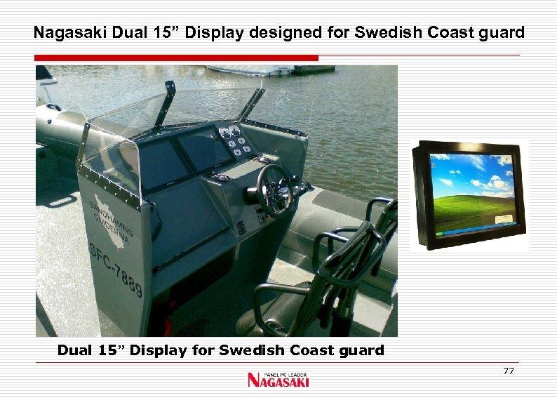 """Nagasaki Dual 15"""" Display designed for Swedish Coast guard Dual 15"""" Display for Swedish"""