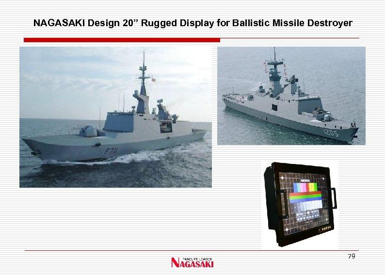 """NAGASAKI Design 20"""" Rugged Display for Ballistic Missile Destroyer 79"""