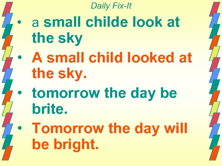 Daily Fix-It • a small childe look at the sky • A small child