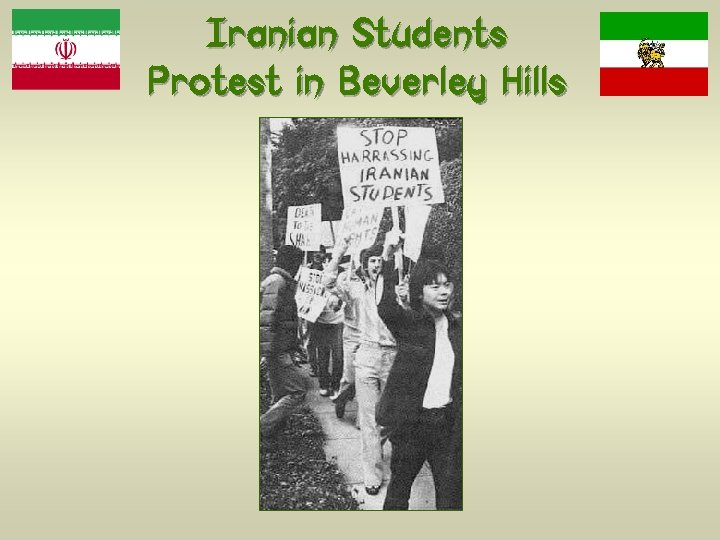 Iranian Students Protest in Beverley Hills