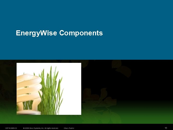 Energy. Wise Components C 97 -512619 -00 © 2009 Cisco Systems, Inc. All rights