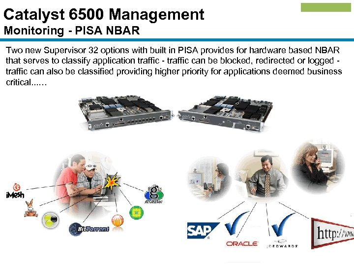 Catalyst 6500 Management Monitoring - PISA NBAR Two new Supervisor 32 options with built